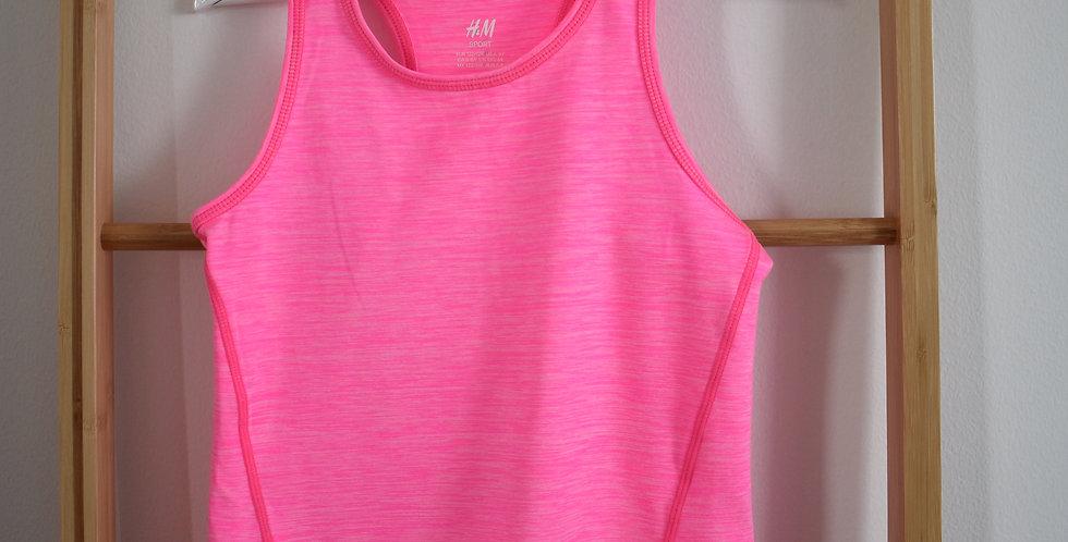 Neonovo ružové športové tričko na ramienka