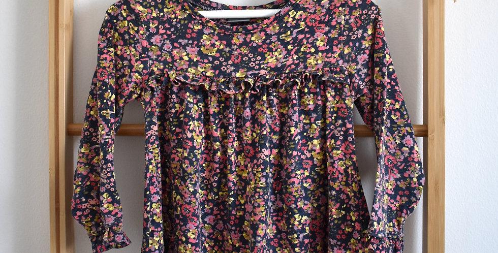 Kvetinkové šaty s volánikom