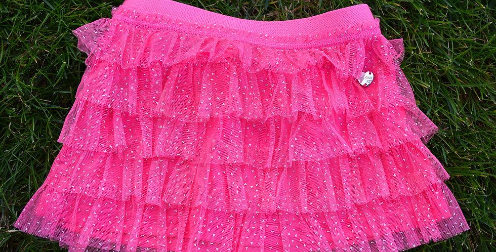 Ružová volánová sukňa Le Chic