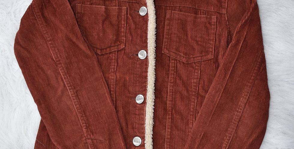 Menčestrové sako s kožušinkou