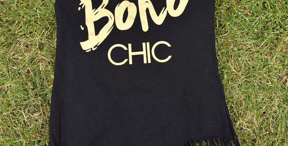 Boho Chic tunika so strapcami