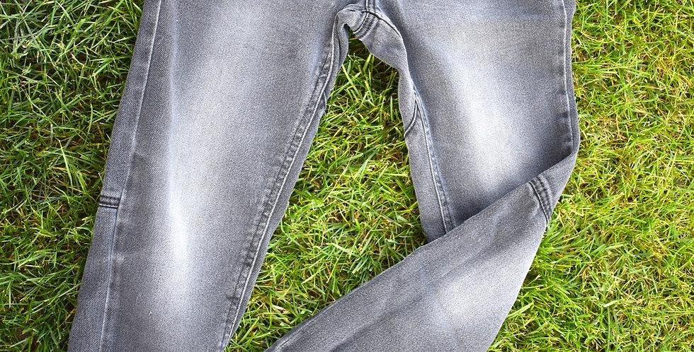 Sivé riflové nohavice