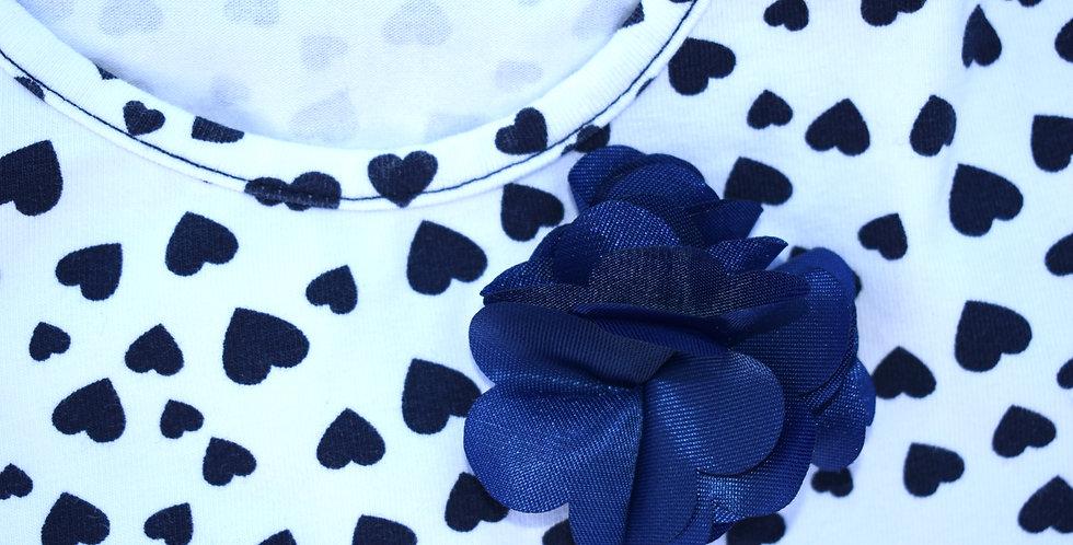 Tričko s kvetinou