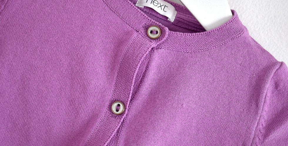 Fialový svetrík na gombíky