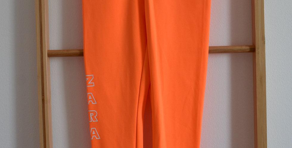 Neon oranžové športové legíny