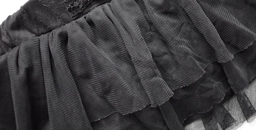 Volánová sukňa s mašľou