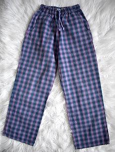 Kárované letné nohavice