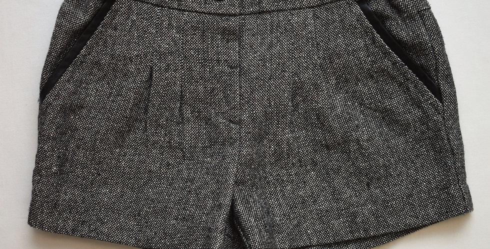 Sivé šortky s leskom