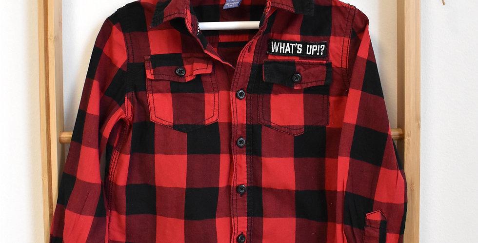Červeno čierna károvaná košeľa