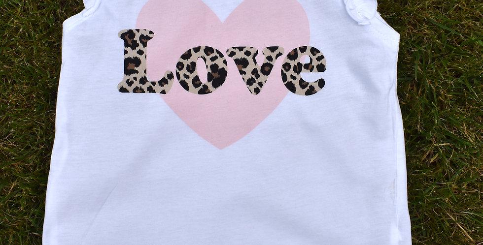 Tričko s leopardím nápisom