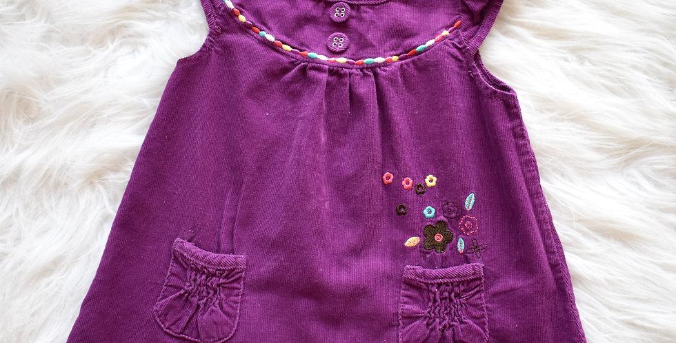 Menčestrové šaty s vreckami