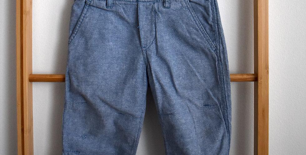 Bledomodré tenké letné nohavice