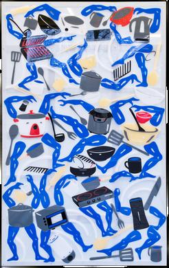 Future Tsukumogami Mosaic 2019  70 x 110 cm Perspex and vinyl