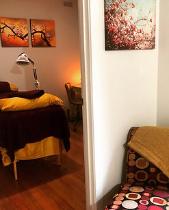 Treatment Room 1 at Red Bridge Family Acupuncture Healesville
