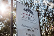 Red Bridge Family Acupuncture Sign