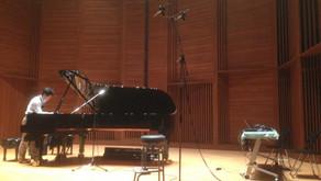 五反田文化センターでのピアノレコーディング