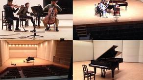 甲府市総合市民会館・芸術ホールでのレコーディング