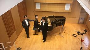 声楽の収録 齋藤大輝さん、小嶋陽太さん、木村雄太さん Sala MASAKA