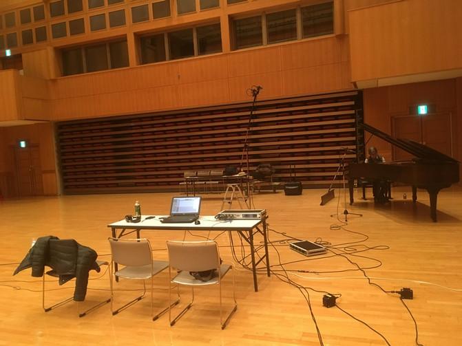 ローズウッドピアノのレコーディング