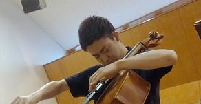 小野順平さん チェロ演奏収録 かいじコンツェルトハウス