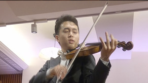 岡本卓徳さん ヴァイオリンリサイタル 紀尾井町サロンホール