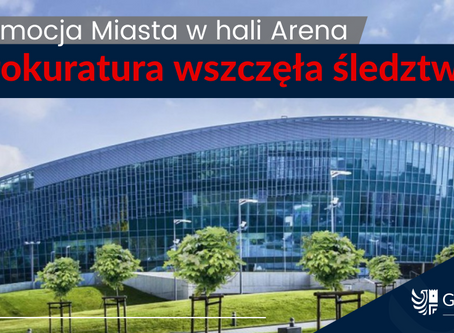 Śledztwo w sprawie promocji miasta w hali Arena