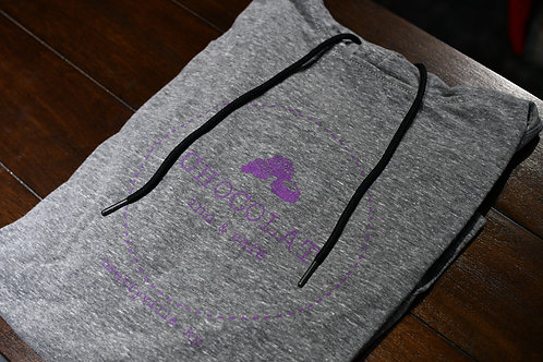 Shadow Gray with Purple Logo Hoodie