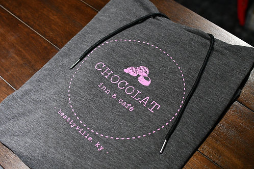 Graphite with Pink Logo Hoodie