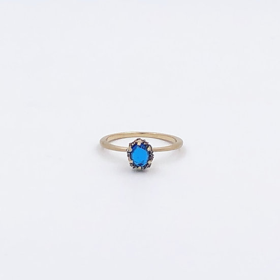 Embroidery Ring | Blue