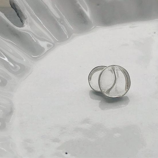 Double Bubble Earring Silver (One piece)