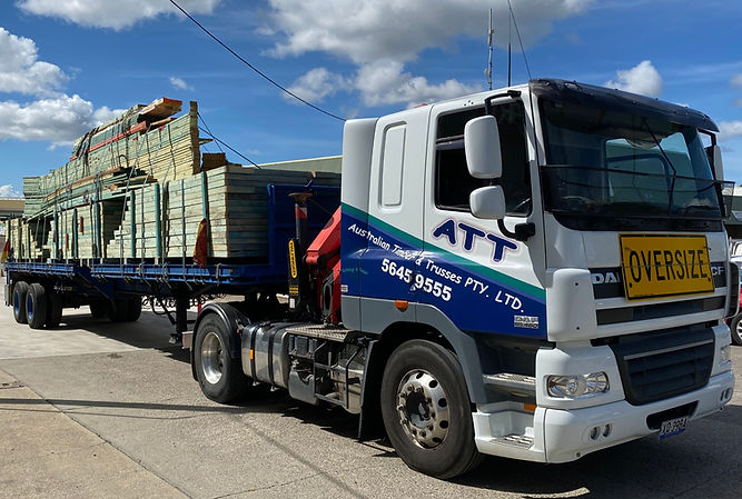 Australian Timber and Trusses Delivery Truck