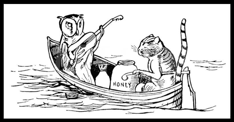 Lear's Original Illustration of the Owl & Pussycat