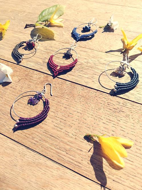 Earrings, rings, pearl chips