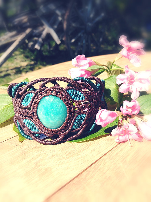 Macrame and Amazonite Bracelet