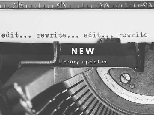 New Library updates:
