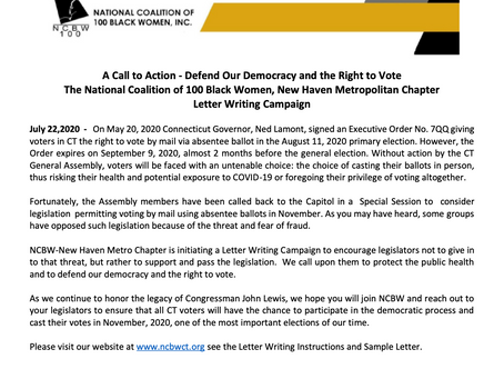 A Call to Action: Defend Our Democracy & the Right to Vote