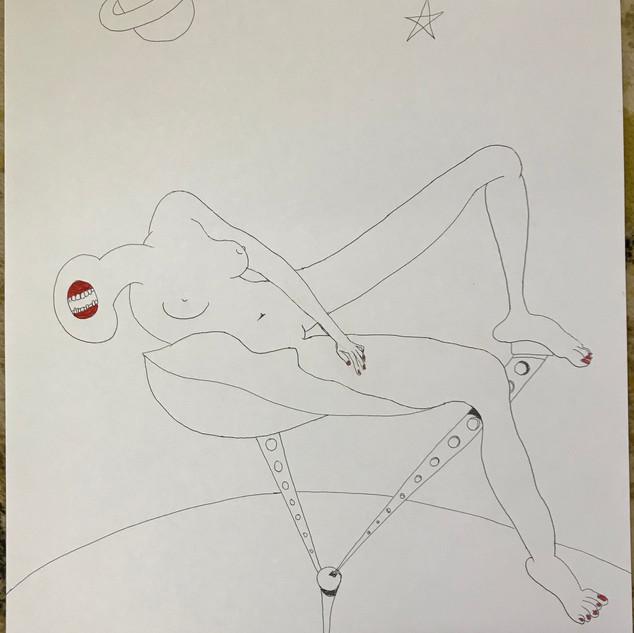 Gel Pen Sketch $150