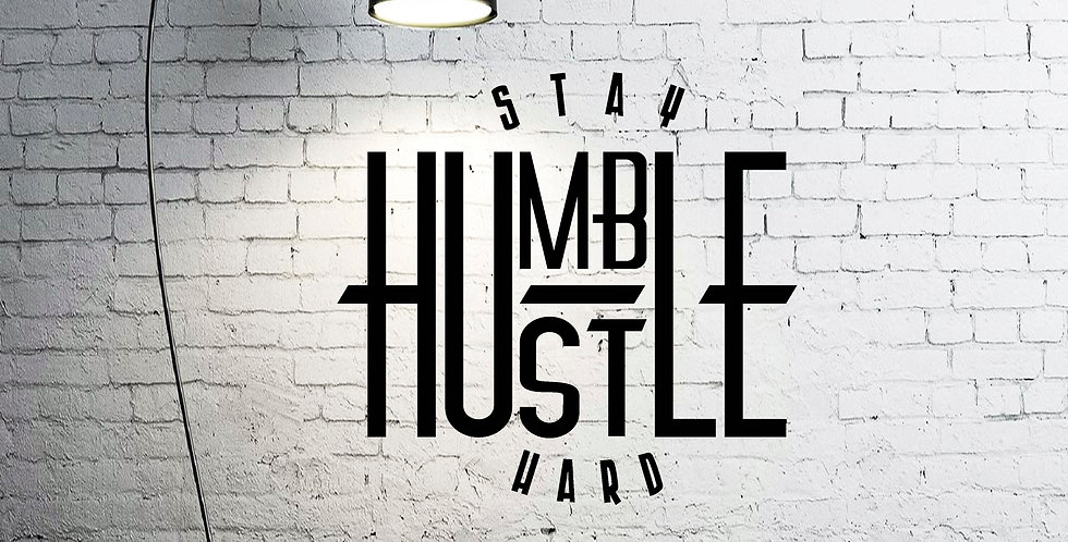 STAY HUMBLE HUSTLE HARD WALL DECAL