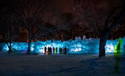 Winter People at Night 2