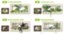 オリジナル商品フォレストフレームの季節によって変えるイメージ、貸し植木、平塚、本厚木