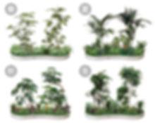 植栽、オリジナル商品のグリーバ、季節によって様々なバリエーション、小田原