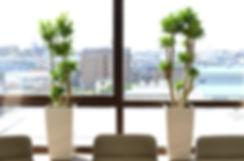 植栽管理会社、デザイン重視の鉢カバー、