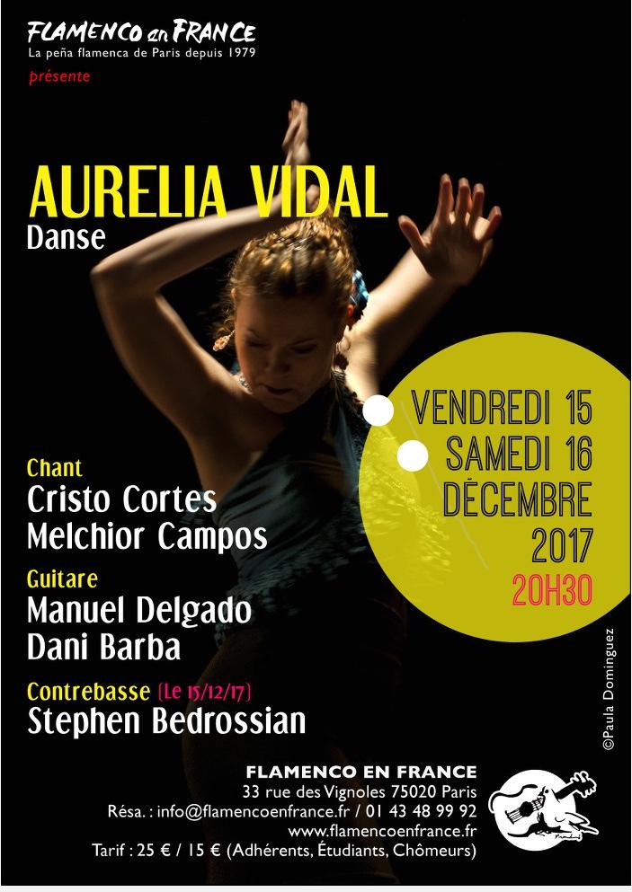 AFFICHE AURELIA VIDAL 15 ET 16 DECEMBRE
