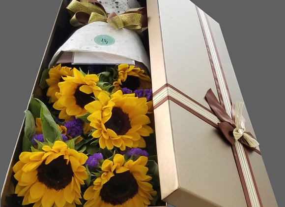 向日葵花束禮盒裝 Sunflower Bouquet in Box