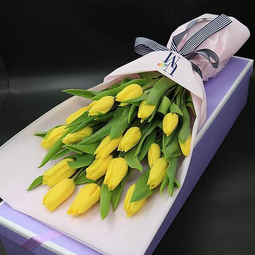 鬱金香黃色盒裝 Tulips (Yellow) in Box