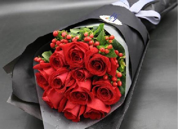Roses Bouquet in Red 12朵紅玫瑰 經典系列