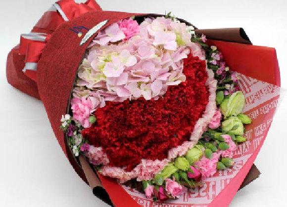 繡球康乃馨花束 Hydrangea Carnation Bouquet Set