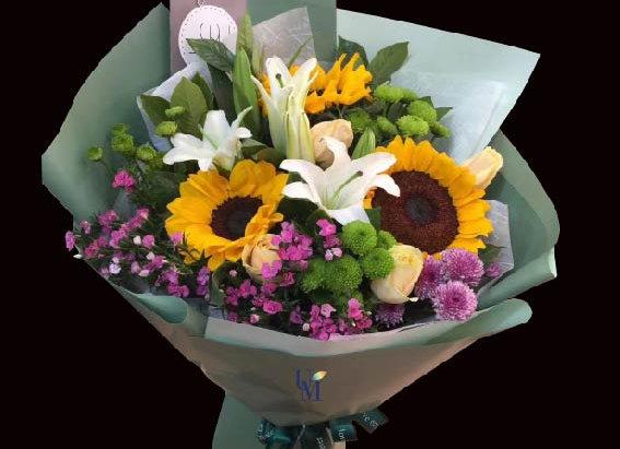 Sunflower Rose Lily Bouquet 向日葵花束系列四