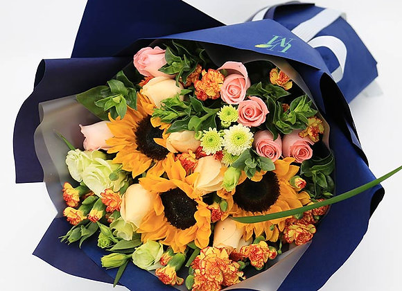 Sunflower Rose Bouquet Set