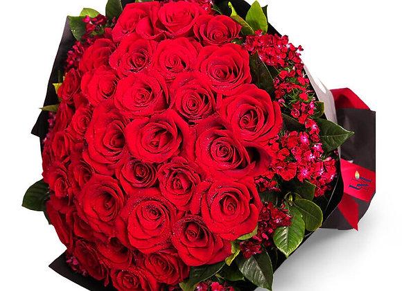 99朵紅玫瑰花束 Rose Bouquet Only for you 99